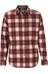Royal Robbins Merinolux Flannel overhemd en blouse lange mouwen rood/wit